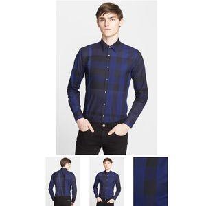 Southbrook Check Long-Sleeve Sport Shirt, Navy